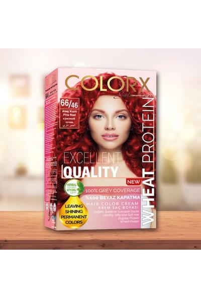 Colorx Set Saç Boyası-66.46-Ateş Kızılı