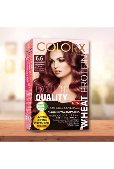 Colorx Set Saç Boyası-6.6-Koyu Mahogany