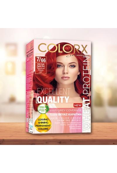 Colorx Set Saç Boyası-7.66-Akik Kızılı