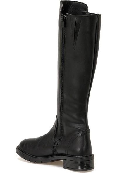 Polaris 316744.Z Siyah Kadın Ökçeli Çizme