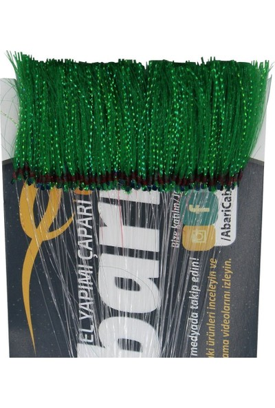 Abari Koyu Yeşil Organze Kıyı Çapari Kösteği 100 Ad 10 No Siyah Iğne