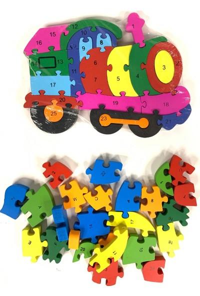Teknovital Ahşap Oyuncak Tren Puzzle