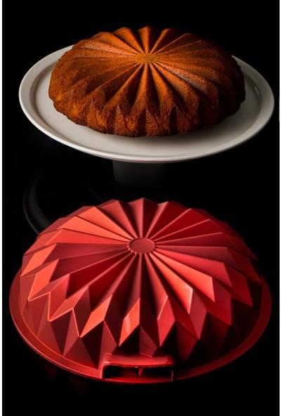 Acar Motto Döküm Kek Kalıbı - Kırmızı