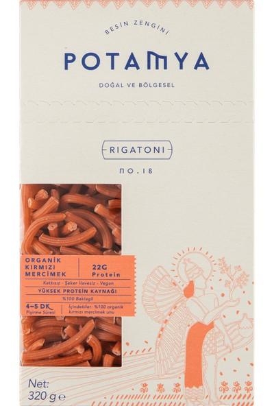 Potamya Organik Kırmızı Mercimek Rigatoni 320 gr