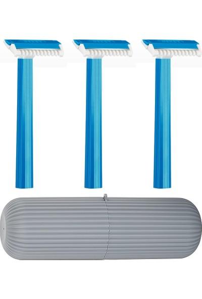 Derby Saklama Kutulu 3'lü Erkek Banyo Traş Bıçağı 714016