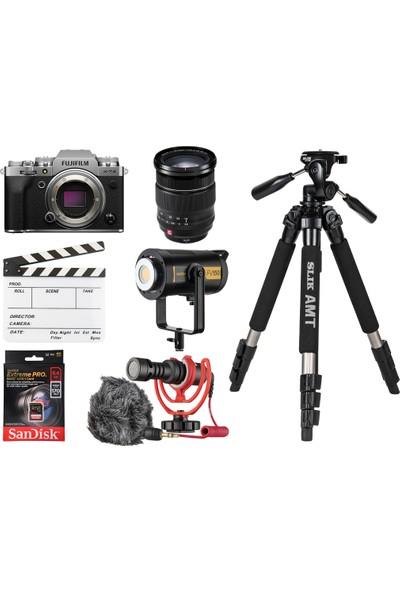 Fujifilm X-T4 Gümüş Home Studio Videographer Kit Iı