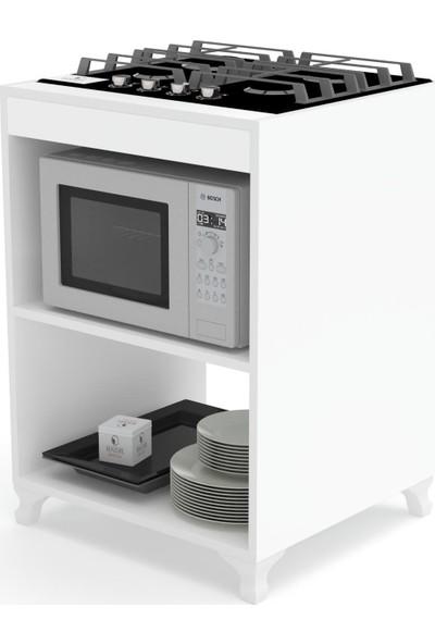 Kenzlife Ocak Dolabı Figen Byz 85*60*57 Mutfak Modül Mini Fırın Ankastre Ocak İçin
