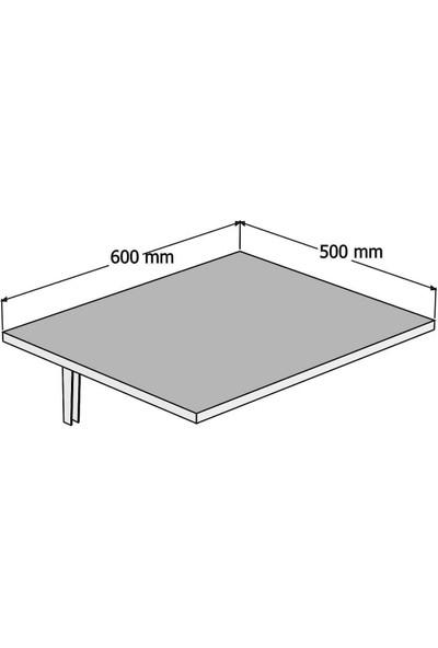 Nerissa Sipal Duvara Monte Katlanır Masa - Balkon Masası Katlanabilir - Mutfak Masası