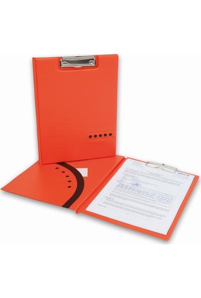 2K A4 Pvc Double Color Lüks Kapaklı Sekreter Blok Tablası 100 Yaprak Turuncu