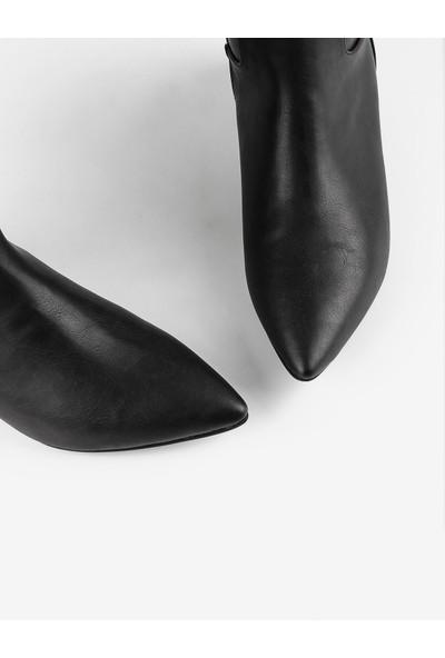 Gökhan Talay Streç Detaylı Siyah Kadın Çizme