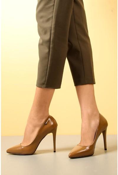 Gökhan Talay Yüksek Topuklu Vizon Rugan Kadın Ayakkabı