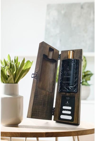 Sefa Yaman Ahşap Kutulu El Yapımı Cam Şişe Kolonya Mishane Koku (Wood Serisi)