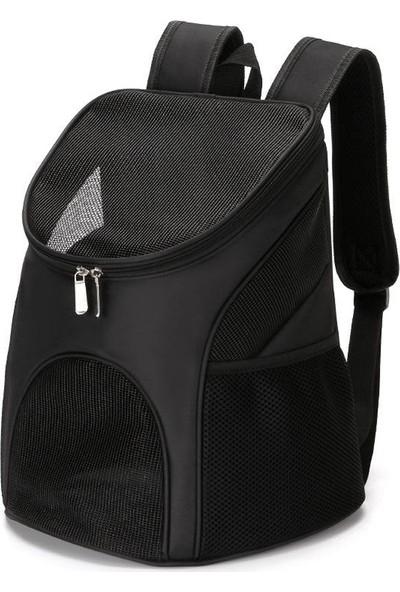 Pet Bag Fileli Kapak Kedi Sırt Taşıma Çantası 45 x 35 x 25 cm