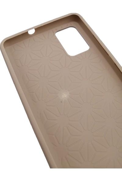 Elite Samsung Galaxy A51 Silikon Kılıf Esnek Silikon Kapak Gold