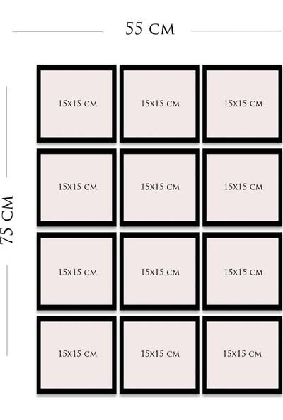 Kate Louise 12 Parça Çerçeve Görünümlü Mdf Tablo Seti