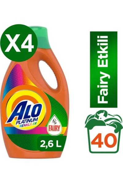 Alo Platinum Fairy Etkili 160 Yıkama Renkli Sıvı Çamaşır Deterjanı 2,6 lt x 4 Adet
