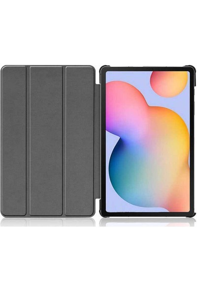 "Case 4U Samsung Galaxy Tab A7 SM-T500 Kılıf 10.4"" Smart Cover Katlanabilir Standlı Tablet Akıllı Kapak Siyah"
