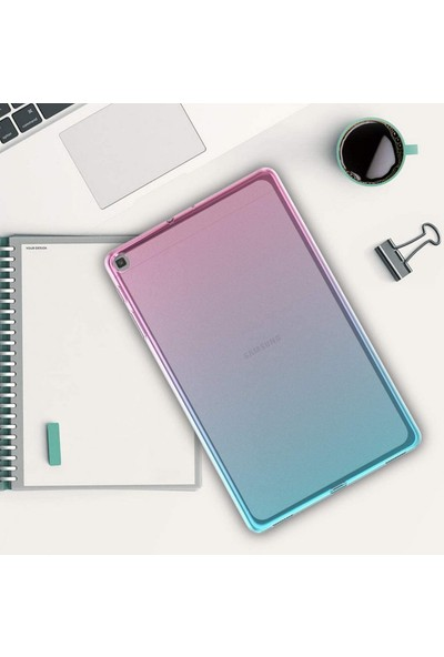 "Case 4U Samsung Galaxy Tab A SM-T510 Kılıf 10.1"" Süper Silikon Tablet Arka Kapak Şeffaf"