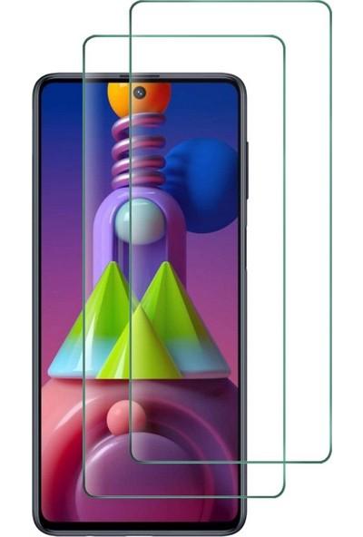 Case 4U Samsung Galaxy M51 Cam Ekran Koruyucu Temperli Şeffaf