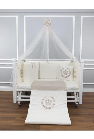 Maya Baby Royal Uyku Seti 80 x 140 cm Taş Rengi Cibinlikli