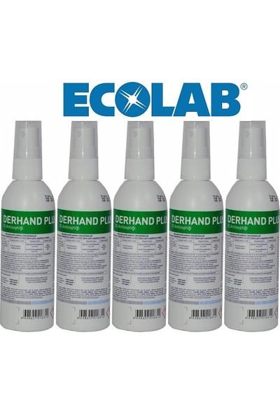 Ecolab Derhand Plus Profesyonel El ve Cilt Dezenfektanı 100 ml x 5 Adet, Sprey Başlıklı