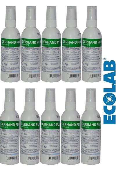 Ecolab Derhand Plus Profesyonel El ve Cilt Dezenfektanı 100 ml x 10 Adet, Sprey Başlıklı