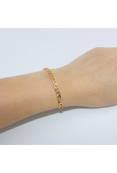 D'amore Atelier Altın Kaplama Künye Zincir Bileklik