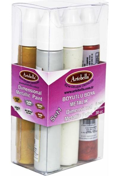 Artebella ABSBM001 Artebella Boyutlu Boya Metalik 6 'lı Set