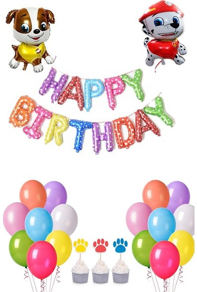 Partifabrik Paw Petrol Temalı Doğum Günü Mini Parti Seti
