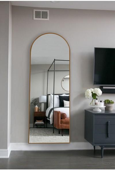 Hüma's Dekoratif Oval Boy Aynası Teak 180 x 60 cm