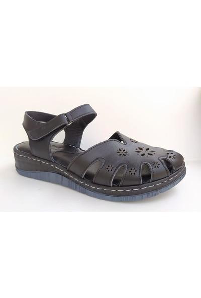Bablisok MS02 Yumuşak Taban Kadın Deri Sandalet