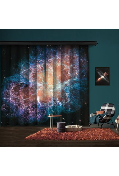 Cipcici Yengeç Bulutsusu Dev Hubblemozaiği 2 Kanat Blackout Perde