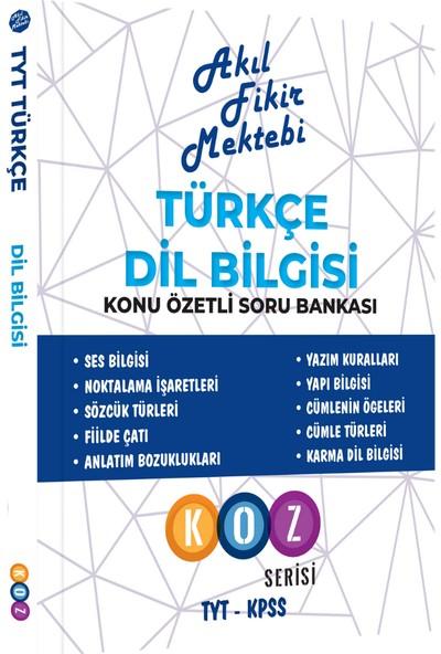Akıl Fikir Mektebi Yayınları Türkçe Dil Bilgisi Konu Özetli Soru Bankası