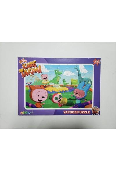 Adeland Trt Çocuk Kare Takımı 48 Parça Yapboz (Puzzle)