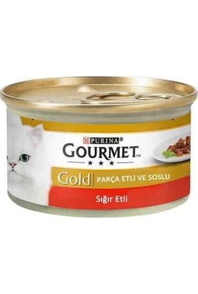 Gourmet Gold Parça Etli Sığır Etli Kedi Konservesi 85GR