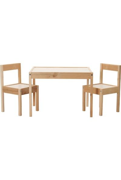 Ürün Şehri Montessori Ahşap Çocuk Masa Sandalye Takımı Çocuk Etkinlik Masası