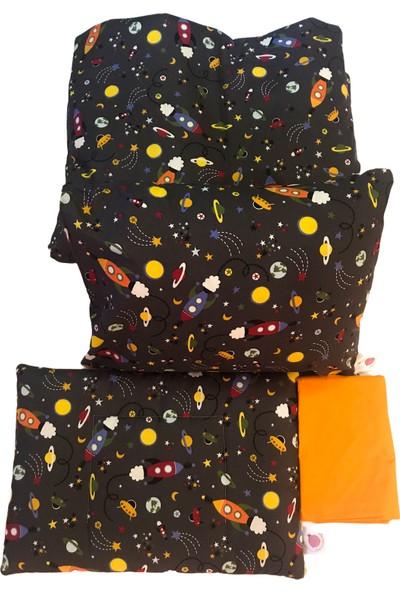 Daphne Kids Style Gri Uzay Bebek Nevresim Takımı