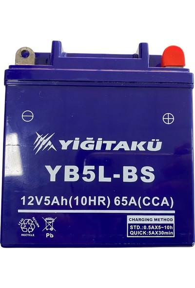 Yiğit Akü Motorsiklet Aküsü 12 V 5 Ah YB5L Yiğit Akü Boyut Ölçüleri 119*60*129CM