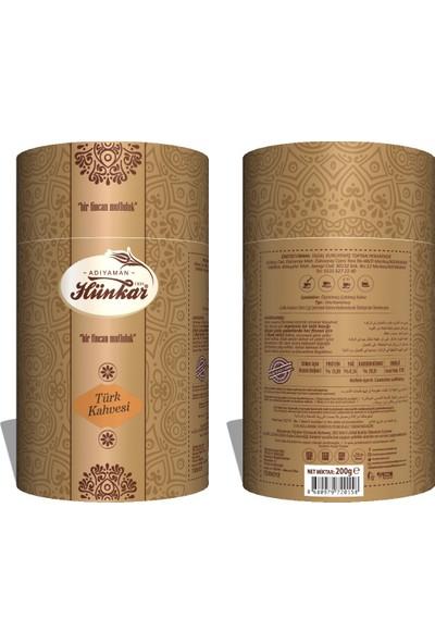 Adıyaman Hünkar Osmanlı Kahvesi Türk Kahvesi Silindir Kutu 200 gr 4'lü