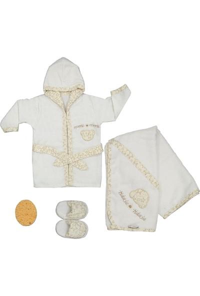 Bebitof Üçüzler Bebek Bornoz Seti 30022