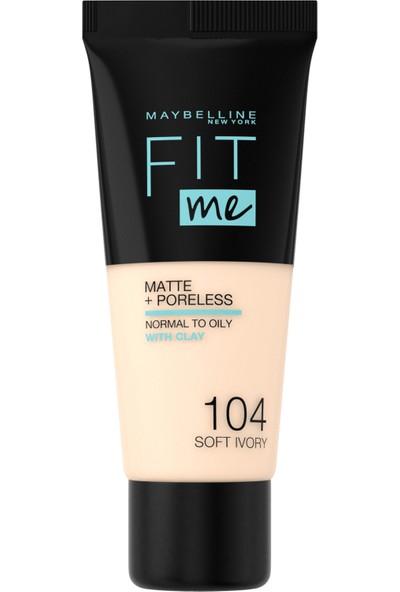 Maybelline New York Fit Me Matte+Poreless Fondöten - 104 Soft Ivory