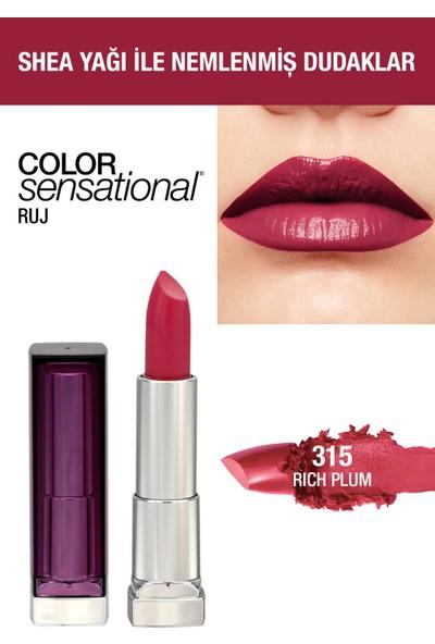 Maybelline New York Color Sensational Ruj - 315 Rich Plum - Mürdüm