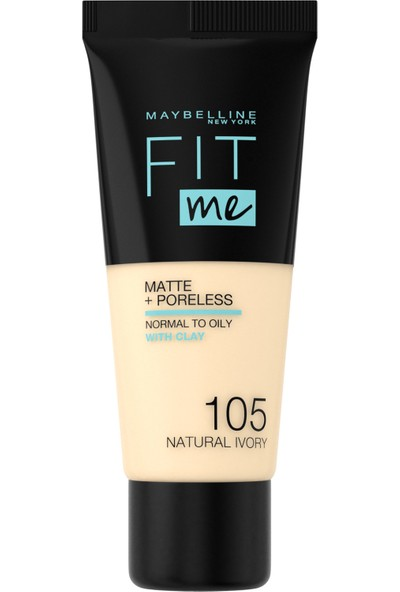 Maybelline New York Fit Me Matte+Poreless Fondöten - 105 Natural Ivory