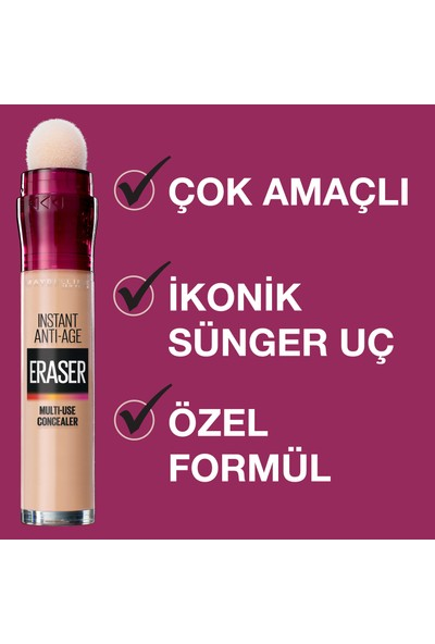 Maybelline New York Instant Anti Age Eraser Kapatıcı - 121 Light Honey