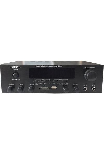 Bots BT-602-S Stereo Anfi Güç 2X40 Watt , Bluetoothlu Usb, Sd Card, LCD Ekran