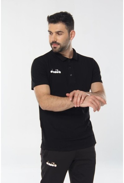 Diadora Liv Kamp Polo T-Shirt Siyah