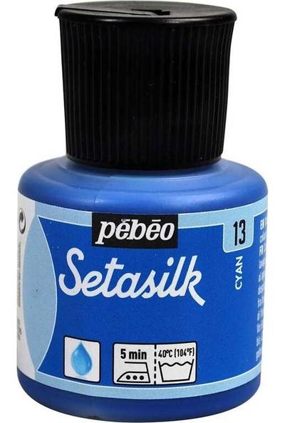 Pebeo Setasilk Ipek Boya 45ML Şişe - Turquoise
