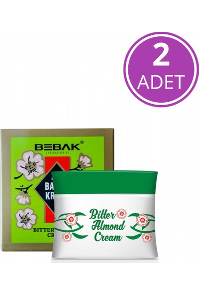Bebak Acı Badem Kremi Kavanoz 2X70 ml