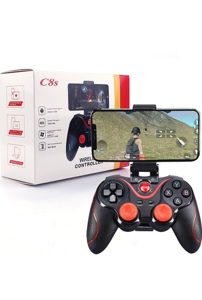 Madepazar C8S Wireless Kablosuz Oyun Kolu Bluetooth Joystick Gamepad