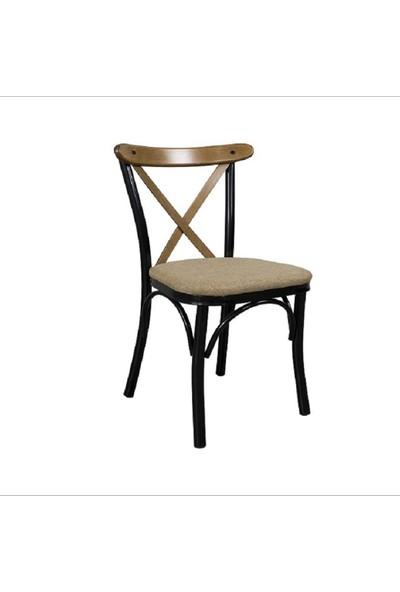 Decora Haliç Metal Sandalye Siyah Ayaklı
